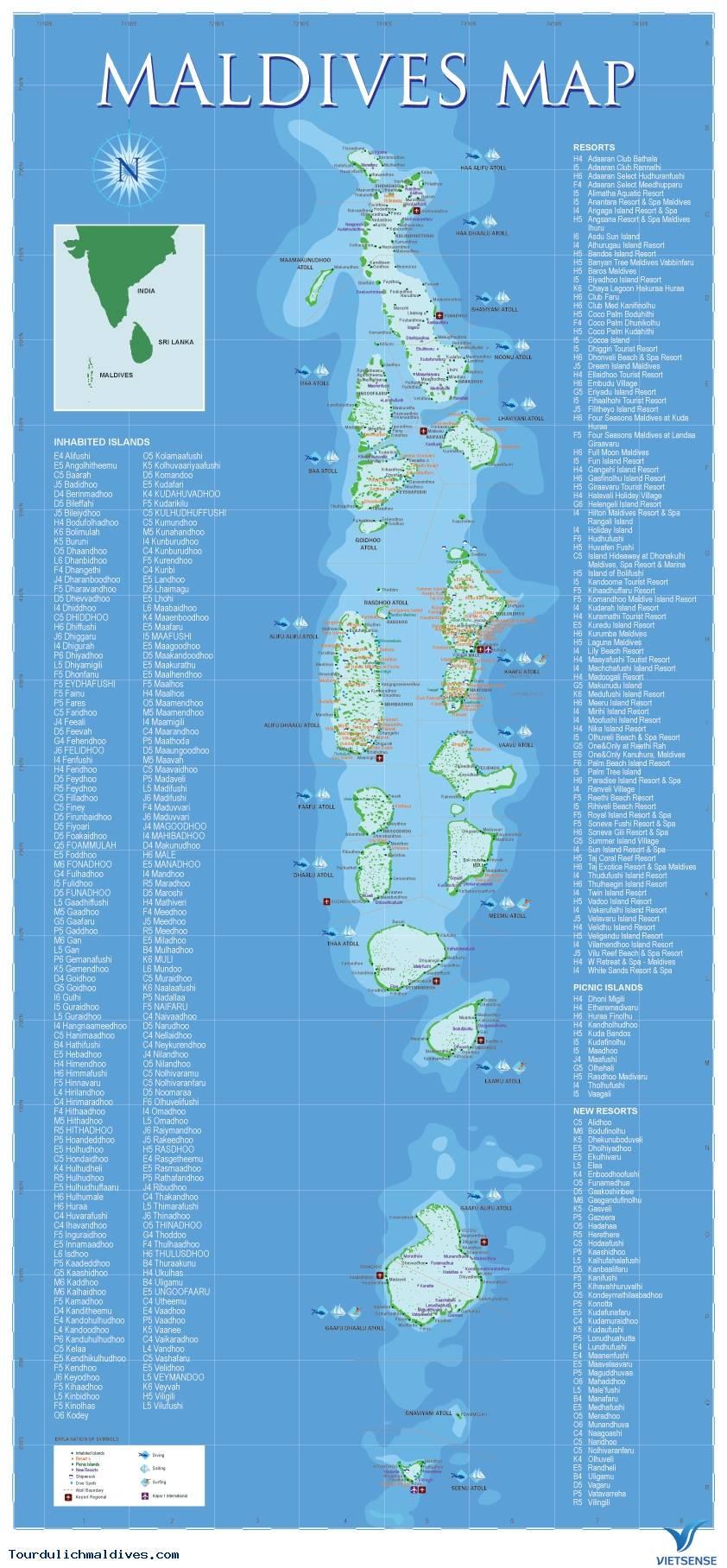 Bản đồ Maldives không thể thiếu khi đi du lịch - Ảnh 2
